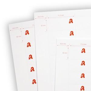 Papiereinleger 71,5 x 32 mm (Apotheken-Logo)